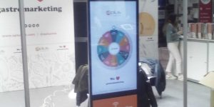 Tactile advertising totem sb service