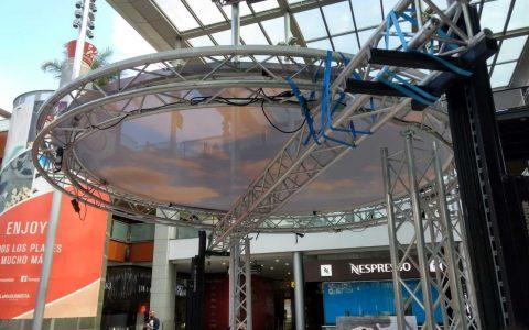 Circular truss rental
